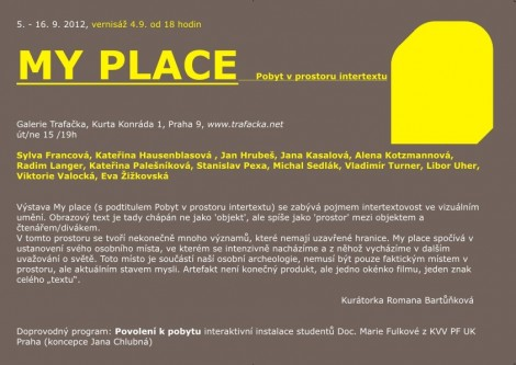 MY PLACE - pobyt v prostoru intertextu
